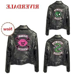 Women PU Leather Jacket Motorcycle Coat South Side Serpents
