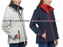 Tommy Hilfiger Women's 3-in-1 Systems Jacket,  Hood, Colors/