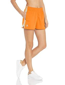 adidas Originals Women's 3-Stripes Shorts, Bahia Orange, 2XS
