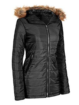Instar Mode Women's Casual Warm Quilted Puffer Jacket with D