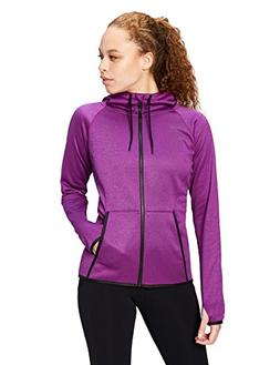 Core 10 Women's Chill Out Fleece Full-Zip Hoodie , Violet He