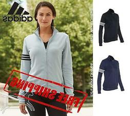 Adidas Women's ClimaLite 3-Stripes French Terry Full-Zip Jac