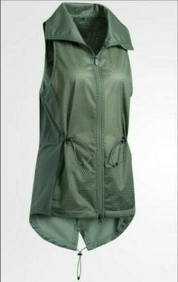 ADIDAS WOMEN'S CLIMASTORM TRAINING VEST GREEN BQ1911 SZ: MED