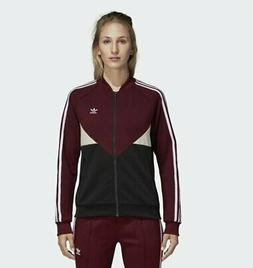 Women's adidas CLRDO SUPERSTAR Track Jacket - Red DH2999