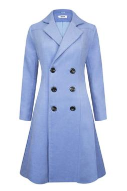 APTRO Women's Double Breasted Hemlines Wool Coat Long Winter