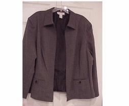 Women's Dress Barn stretch jacket gray color size 1X and 2X
