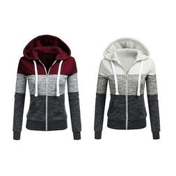 Women's Fashion Hoodie Jacket Drawstring Soft Long Sleeve Sw