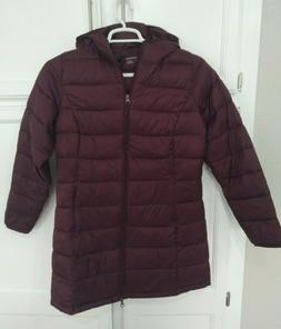 Amazon Essentials Women's Full-Zip Hooded Puffer Jacket, Bur