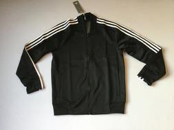 Adidas Men's Full Zip Up Squad ID Track Jacket Black/White C