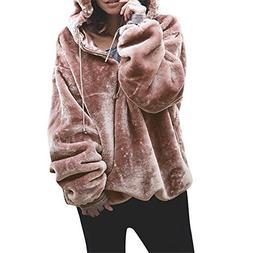 Women's Hoodies, FORUU Fluffy Sweater Warm Outwear Long Slee