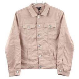 Buffalo David Bitton Women's Knit Denim Jacket, Medium, Pink