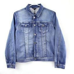 Buffalo David Bitton Women's Knit Denim Jacket, X-Small, Blu