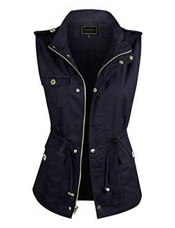 makeitmint Women's Light-Weight Utility Pocket Anorak Jacket