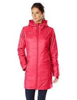 Columbia Women's Mighty Lite Hooded Jacket, Red Camellia, X-