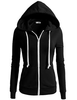 H2H Women's Plus Active Slim Fit Zip up Long Sleeve Hoodie J