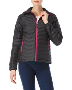 Columbia Women's Plus Size Trial Insulated Jacket, Black/Fus