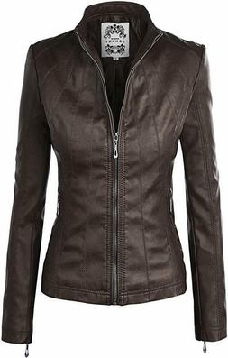 women s quilted faux leather moto biker