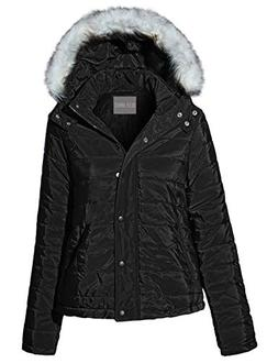 OLLIE ARNES Women's Quilted or Inner Fur Lined Sherpa Anorak