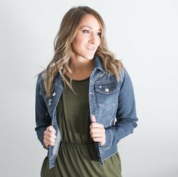 Women's Retro Boyfriend Fitted Denim Jacket Jeans Coat Outwe