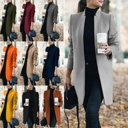 Women's Slim Blazer Suit Long Sleeve Coats Ladies Work Jacke