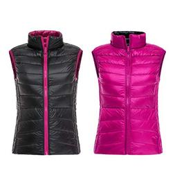 women s stand collar full zip reversible
