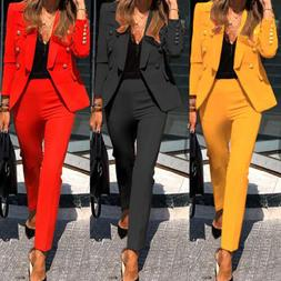 Women's Suits Coat Button Slim Fit Blazer Casual OL Outwear