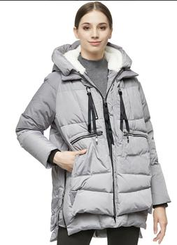Orolay Women's Thickened Down Jacket GRAY~ XS~YRF092: NEW IN