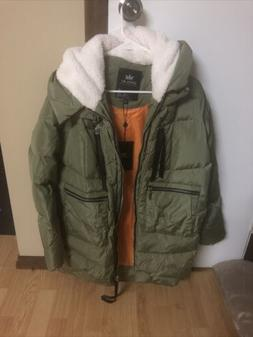 Orolay Women's Thickened Down Jacket Green M EL0966