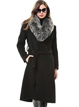 Escalier Women`s Trench Modern Outdoor Wool Blended Classic