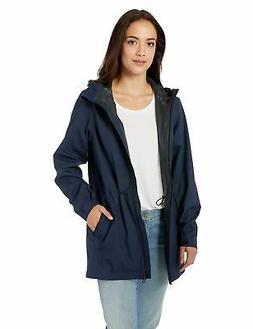 women s waterproof rain jacket navy blue