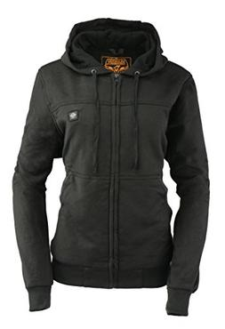 Milwaukee Leather Women's Zipper Front Heated Hoodie
