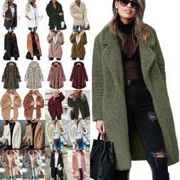 Women Winter Teddy Bear Fleece Coat Faux Fur Jacket Parka Ov