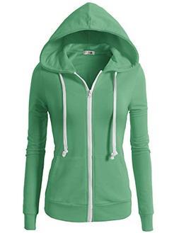 H2H Womens Active Regular Fit Zip up Long Sleeve Hoodie Jack