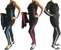 Womens Apparel Gym Fitness Yoga Activewear 3 Pieces Set Jack