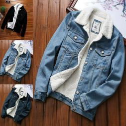 Womens Autumn Winter Denim Jacket Turn-down Vintage Long Sle