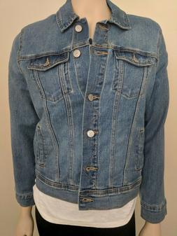 old navy womens denim jacket: size S medium wash nwt $34.99