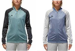 adidas Women's Embossed Print Track Jackets Full-Zip Clima
