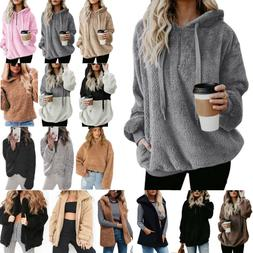 women s teddy bear fluffy fleece hoodies