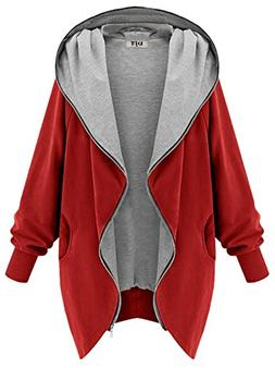 womens hooded zip up sweatshirt coat jacket