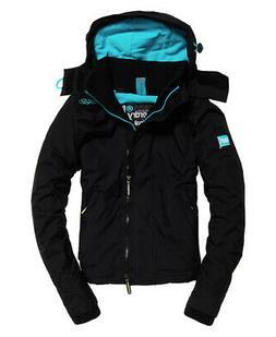 Superdry Womens Pop Zip Hood Arctic Sd-Windcheater Jacket