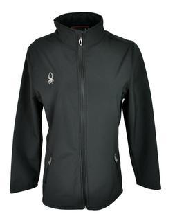 Spyder Womens Softshell Full Zip Jacket Black 72F66029-01 Si