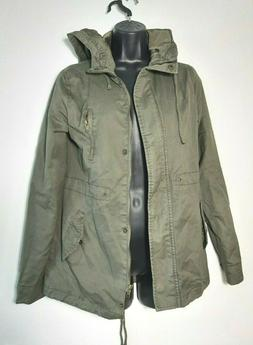 Ambiance Womens Spring Jacket Size S Hoodie Full Zip Olive G