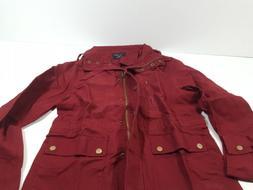FASHION BOOMY Womens Zip Up Military Anorak Jacket