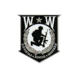 Wounded Warrior Logo Pin 1.5 inch JACKET VEST hat  PIN