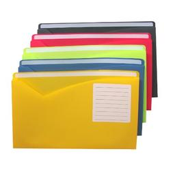 C-Line Write-On Poly File Jackets, Letter Size, Expands 1 In