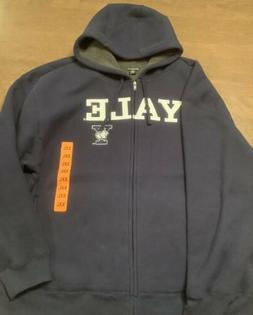YALE University Columbia Men's Fleece Hooded Zip Jacket Navy