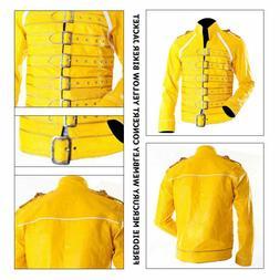 yellow biker jacket new men s freddie