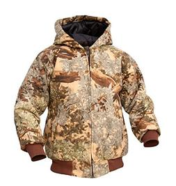 King's Camo Youth Insulated Hooded Hunting Jacket, Medium