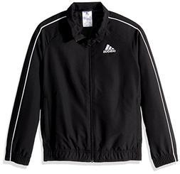adidas Youth Soccer Core18 Presentation Jacket, Black/White,