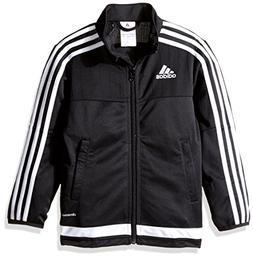 adidas Youth Soccer Tiro 15 Training Jacket, Black/White/Bla